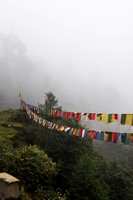 Prayer Flags in the Fog