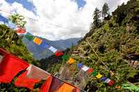 Prayer Flags Span the Valley