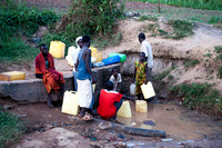 Children at the Water Pump