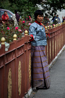 Woman at Thimpu Dromchoe